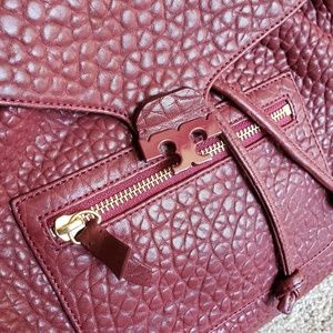 Tory Burch Bags - 🌿Authentic Tory Burch Drawstring Merlot Backpack